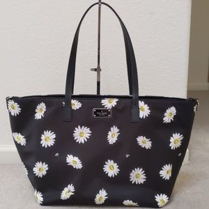 Rare Kate Spade Daisy Nylon Tote Like New Baby Bag